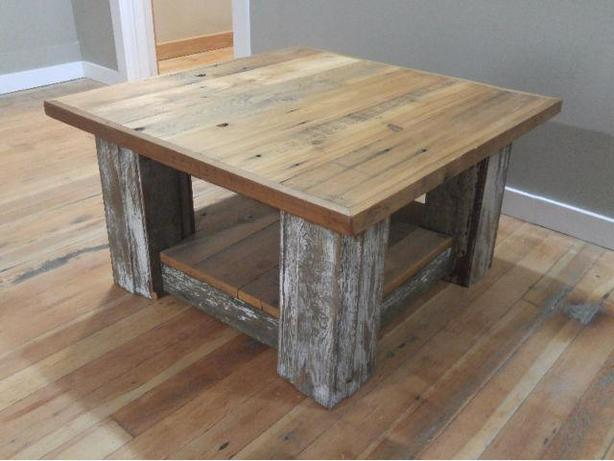 Reclaimed rustic wood coffee table quotlifes a beachquot south for Rustic beach coffee table