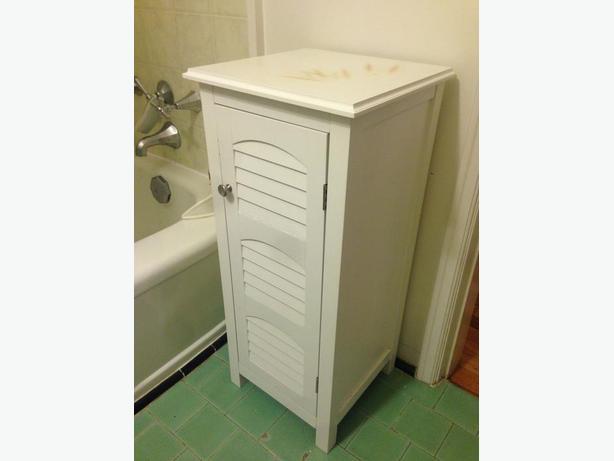 White Stand Up Bathroom Cabinet Victoria City Victoria Mobile