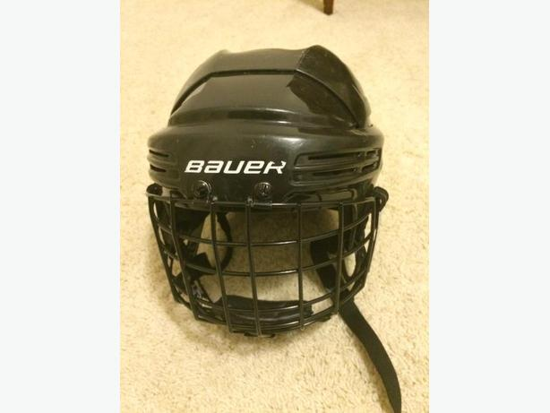 Bauer hockey helmet with face cage