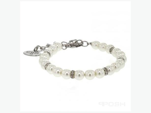Bracelet/ Pearl Bracelet with crystal / Luxury bracelet
