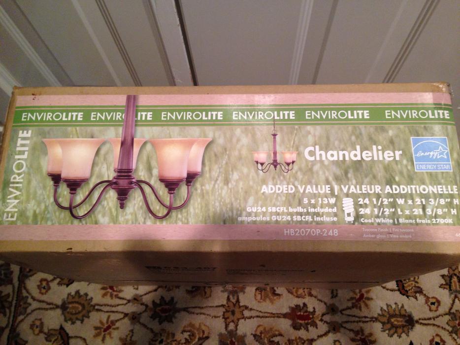 Reduced 5 Light Bronze Chandelier Brand New Saanich Victoria