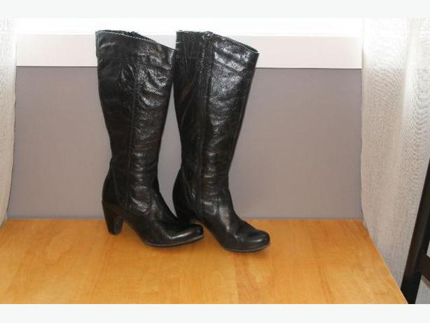 Black Aldo Leather Women's Boot - Size 38