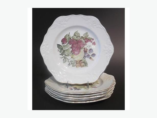 Vintage Embossed English Fruit Plates