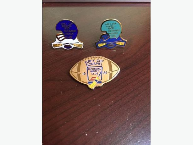 WANTED: Richmond Grey Cup Bonspiel Lapel Pins