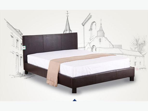 Simple Design Double size Bed Frame (Black)