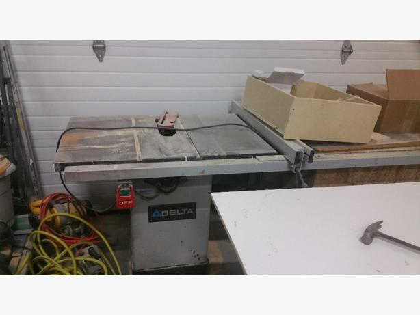 Table Saw Delta Stationary Sooke Victoria