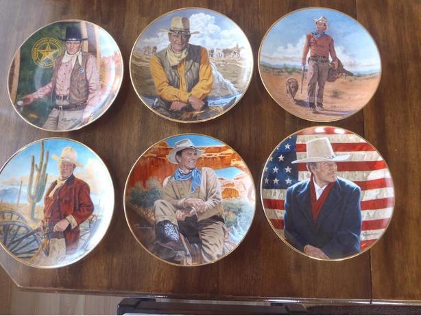 Franklin Mint John Wayne Collector Plates