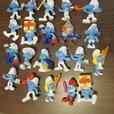 SEVENTY SMURFS. 1981 Smurf German Policeman Plus 2011-2013 McDonalds Smurfs