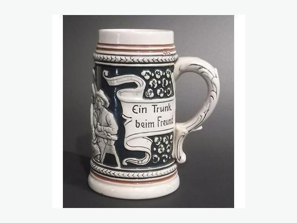 Antique German Stein with Hidden Frog Inside