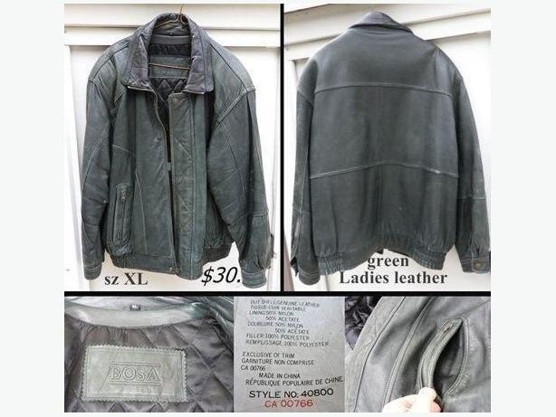 Ladies/Teens Leather Jacket - Green