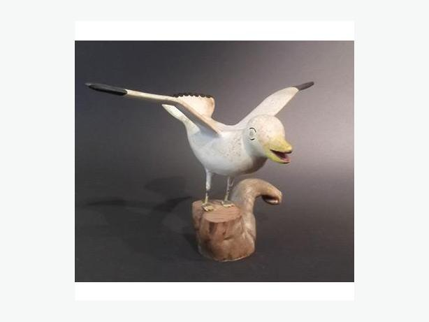 Hand-Carved Seagull
