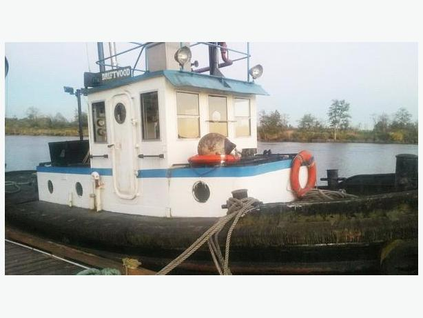 Pusher Tug Boat For Sale - Ex Army Tug - Driftwood