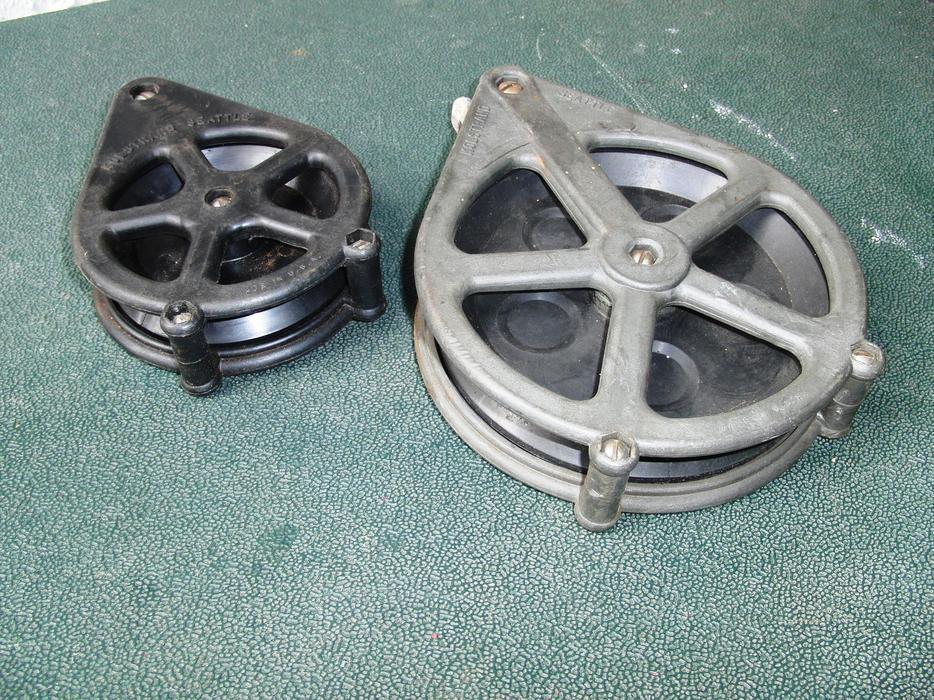 Pulleys Nanaimo : Two kolstrand seattle nylon pulley blocks quot south