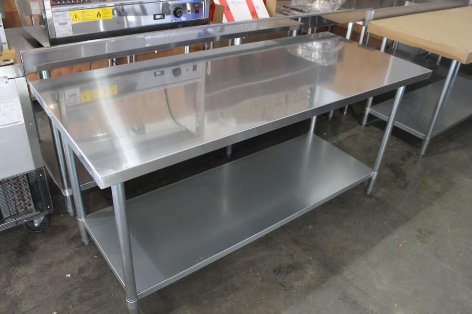 30 X 72 All Stainless Welded Tables Outside Victoria