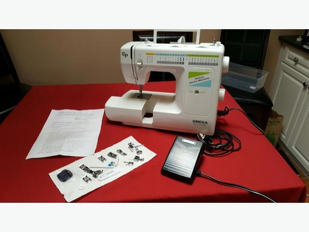 EuroPro Omega Deluxe Denim Machine Model 40 Central Saanich Gorgeous Omega Stitch Art Sewing Machine