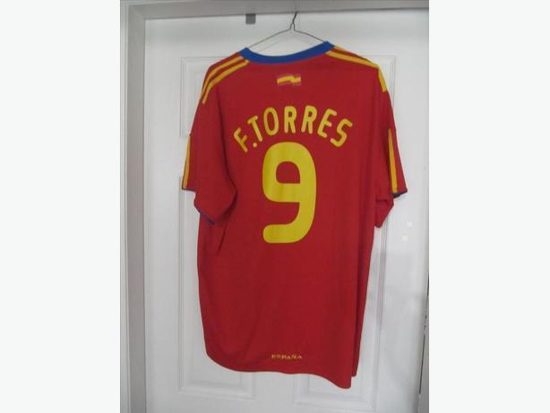 Fernando Torres Spain National Team Jersey. Men's XL Stitched Crests