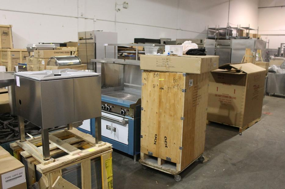 Brand New Food Equipment Auction Burnaby Auction Outside