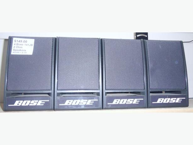 4 Bose 141-JB Speakers 2 Ohms