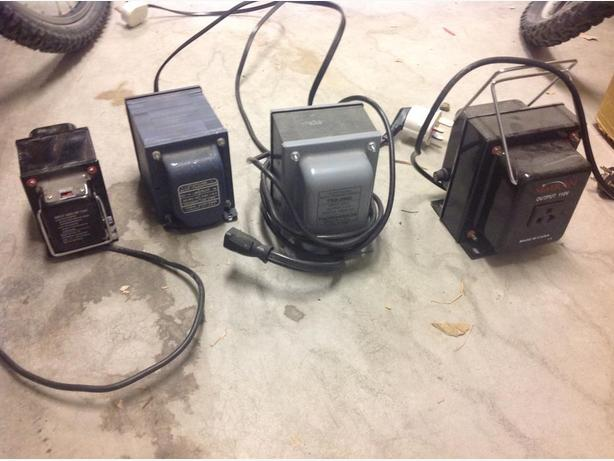 Four Large 220-110 Volt Transformers
