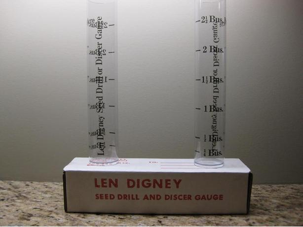 LEN DIGNEY SEED DRILL & DISCER GAUGE