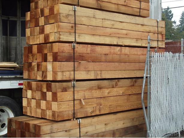 Cedar Fence Post On Sale 6x6 Outside Victoria Victoria