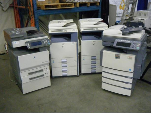 Package Of 4 Copiers - 2007 Sharp MX-2300N Colour Photocopier Printer, 2007 Shar