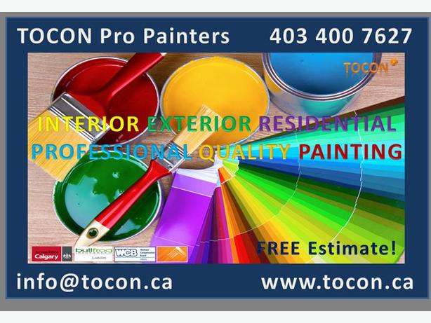 TOCON Pro Painters Calgary Professional Painting Contractor. Affordable Prices!