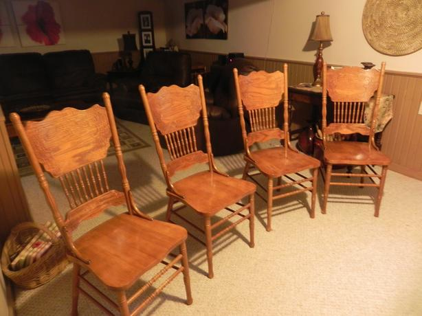 Pressed Back Dining Chairs ~ Pressed back dining room chairs osgoode ottawa