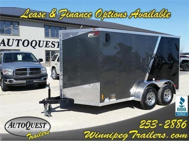 """2017 RC Trailers 7 x 12 x 72"""" High V-Nose Cargo with Ramp Door - 7000k"""