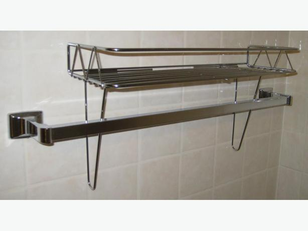 Like-New Chrome Towel Shelf
