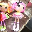 2 fully dressed Lalaoopsy Dolls