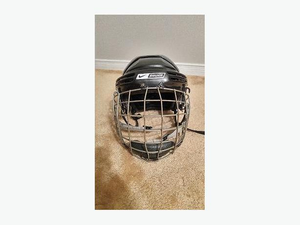 Hockey Helmet, Elbow Pads and Under Armour