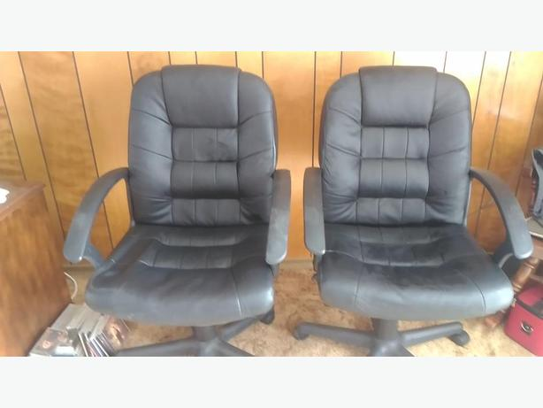 pair of low back office chairs