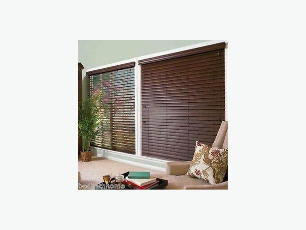 2 Inch Faux Wood Blinds Dark Brown Saanich Victoria