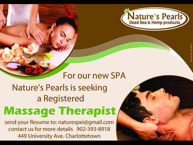 WANTED: Wonted: Registered Massage Therapist