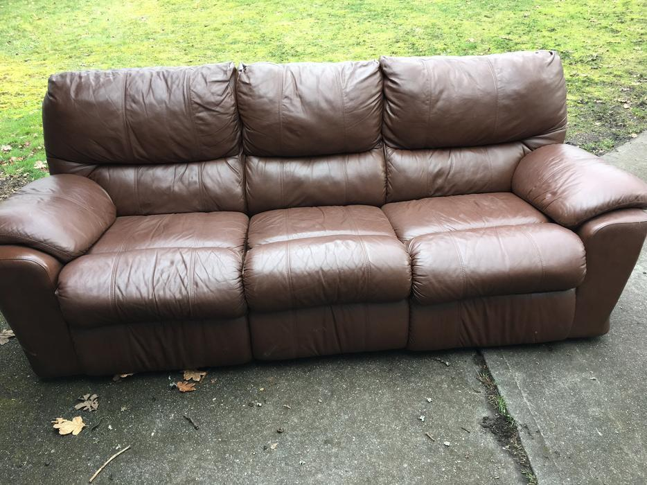 Reclining Leather Sofa Oak Bay Victoria