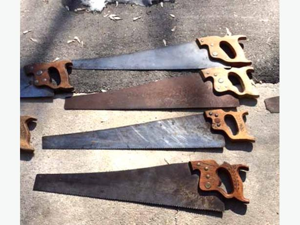 Vintage Disston hand saws
