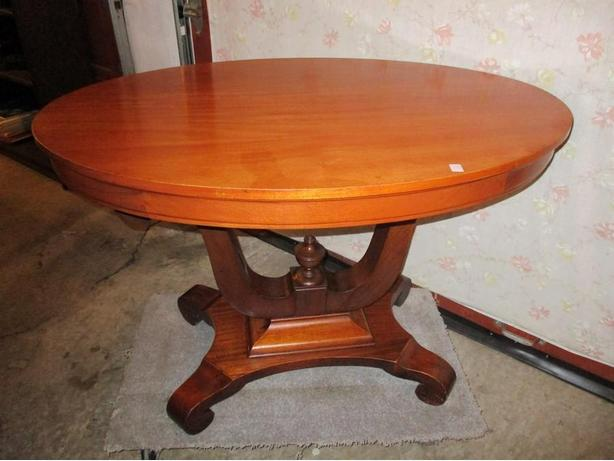 1920S OVAL MAHOGANY SIDE TABLE FROM ESTATE