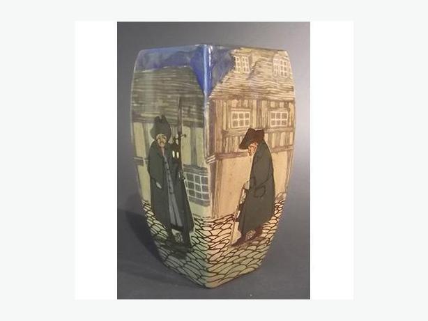 Antique Royal Doulton Watchman Pattern Vase Outside Ottawa