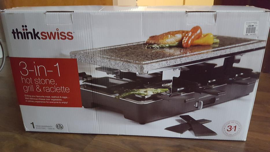 3 in 1 hot stone grill and raclette north nanaimo nanaimo mobile. Black Bedroom Furniture Sets. Home Design Ideas