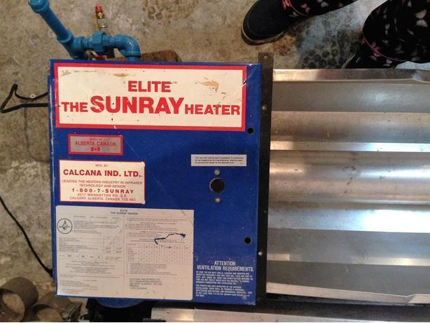 Sunray 85-A Infrared Garage Heater