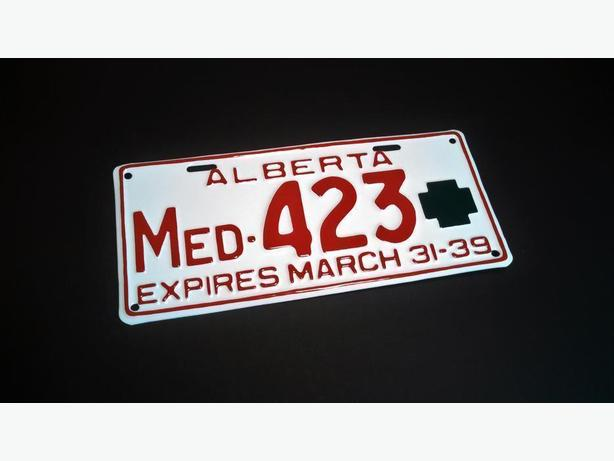 WANTED: Alberta Doctor License Plates