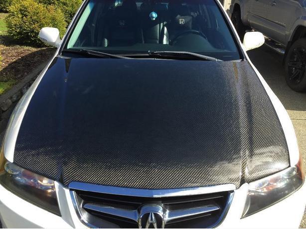 04-05 Acura TSX carbon fiber hood Saanich, Victoria on