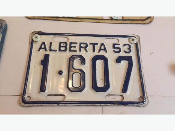 WANTED: Old Alberta Motorcycle License Plates