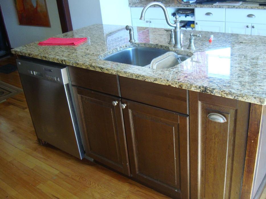 Like New Granite Kitchen Island with Dishwasher and Sink - $5000 ...