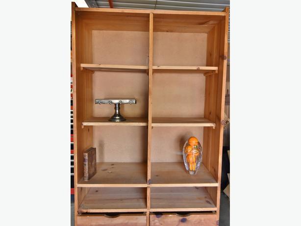 Nice Free Standing Pine Cupboard Cabinet Display Shelfs