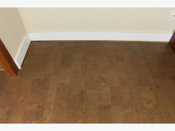 Cold basement warm it with cork flooring victoria city for Is cork flooring good for basements