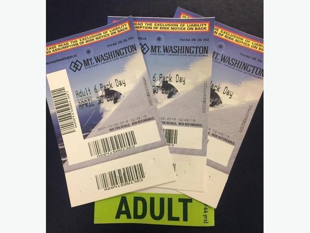 Mt. Washington Alpine Lift Ticket. 3 available. $75 each
