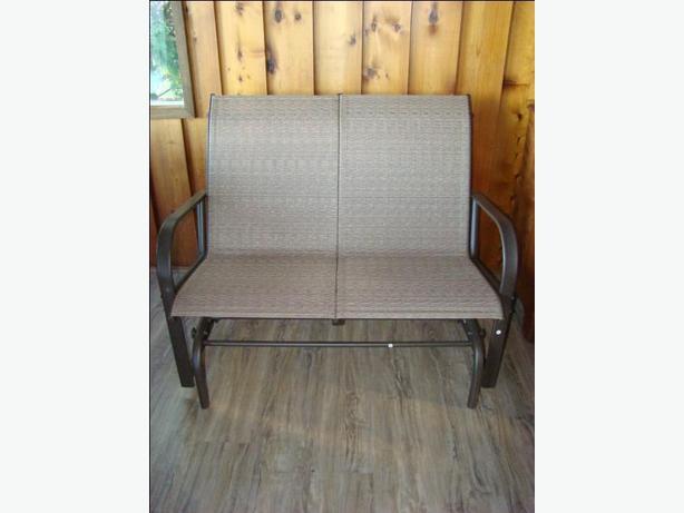 New Patio Glider Bench