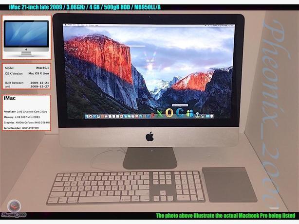 iMac 21-inch late 2009 / 3.06GHz / 4 GB / 500gB HDD / MB950LL/A…Deal